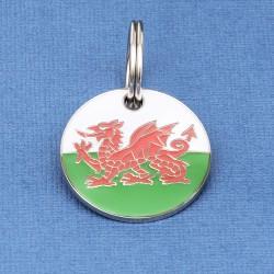 Welsh Flag Pet Tag