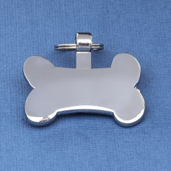 Bone Pet Tag Silver