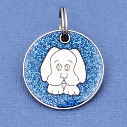 Blue Glitter Dog Id Tag