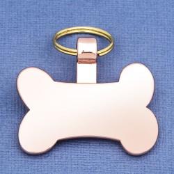 Rose Gold Bone Pet Tag