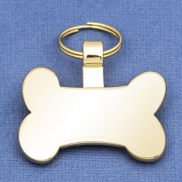 Bone Pet Tag Gold