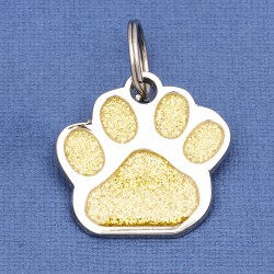 Glitter Paw Dog ID Tag Gold
