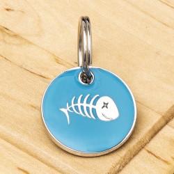 Fish Cat ID Tag Aqua