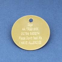 30mm Brass Pet Id Tag
