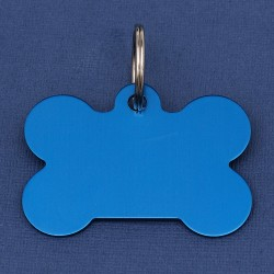 Aluminium Blue Bone Tag